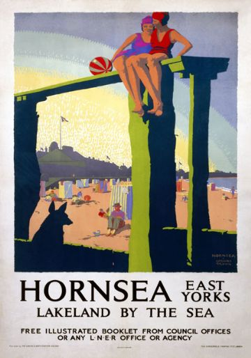 Hornsea, East Yorkshire. Vintage LNER Travel Poster by Gregory Brown